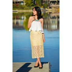 Gold Beaded Midi Pencil Skirt Brand new with tag gorgeous skirt with lace and gold beading. This is such a unique piece and is sure to get many compliments. No trades. No PayPal. H&M Skirts Midi