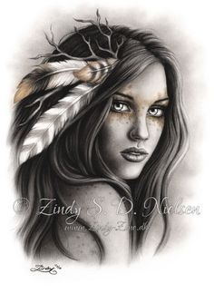 Top 30 Best Canvas Designs Art Wallpaper for Girls Pictures Indian Women Tattoo, Native Indian Tattoos, Indian Girl Tattoos, Back Tattoo Women, Tattoos For Women, Native American Drawing, Native American Tattoos, Native American Girls, American History