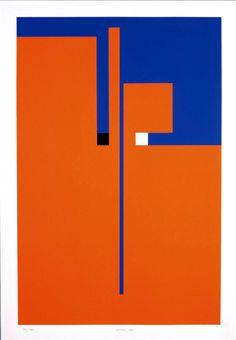 Bruno Munari (1907-1998) - Tribute to Santomaso, Serigraph; 99.5x70cm (Private Collection) ?date?