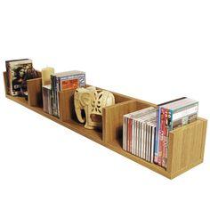 wall wood media storage