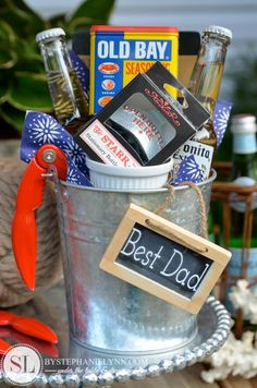 Fathers Day Crab Boil Gift Basket