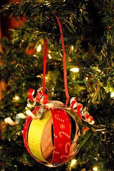 DIY ornaments w/ scrapbook paper