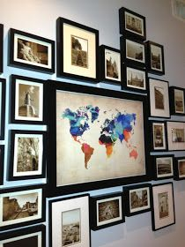 Travel wall of all the places you have been-so doing this!!!