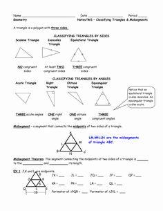 Midsegment Of A Triangle Worksheet Best Of Midsegment ...