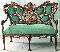 Emerald velvet Settee 1880