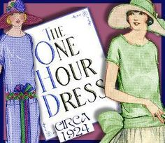 1920's ONE HOUR DRESS -make YOUR own patterns! VERSATILE! | eBooks | Arts and Crafts
