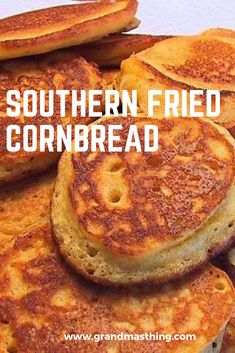 Traditional Hoe Cakes Recipe from Cooked By Julie Cornmeal Cornbread, Fried Cornbread, Cornbread Cake, Cornmeal Recipes, Sweet Cornbread, Cornmeal Pancakes, Jiffy Cornbread, Bread Recipes