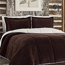 So Soft™ Plush Reversible Comforter Set in Chocolate