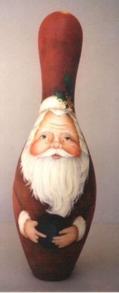 Bowling Pin Santa