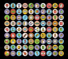 325+ Education Icons Set by Vectors Market on @creativemarket