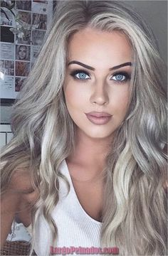 Perfect Ash Blonde Hair Color 2018 – Beauty Make up Styles Platinum Blonde Hair Color, Blonde Color, Ashy Blonde Hair, Ash Blonde Hair Silver, Make Up For Blue Eyes Blonde Hair, Platinum Grey, Long Blond Hair, Blonde Hair Blue Eyes Makeup, Cool Ash Blonde