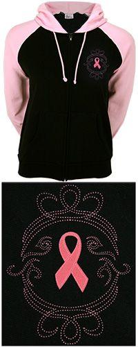 Two Tones of Pink Ribbon Hooded Zip Sweatshirt Item # 51246 https://thebreastcancersite.greatergood.com/store/bcs/item/51246/?adId=115702=325040=GGcom_SiteTab-THS/ Want