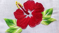How to Long Stitch | China Rose Pattern | Hand Embroidery Design - YouTube