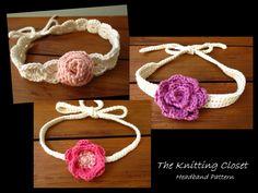 sweet headband pattern - pinned by pin4etsy.com
