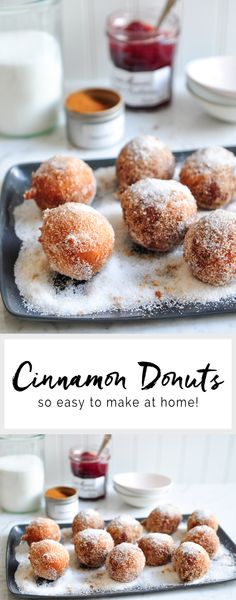 Try this delicious recipe for homemade cinnamon donuts. Recipe adapted from Gary Mehigan of MasterChef Australia. Easy Donut Recipe, Donut Recipes, Brunch Recipes, Sweet Recipes, Dessert Recipes, Cooking Recipes, Easy Desserts, Delicious Desserts, Yummy Food