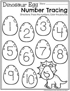Dinosaur Worksheets for Preschool - Number Tracing dinosaurworksheets preschoolworksheets preschool dinosaurs numberworksheets 374080312795619988 Dinosaur Worksheets, Dinosaur Theme Preschool, Numbers Preschool, Free Preschool, Preschool Curriculum, Preschool Printables, Preschool Lessons, Preschool Classroom, Preschool Learning
