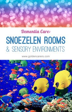 Snoezelen Rooms and Sensory Environments for Dementia Care: People living with dementia can benefit greatly from exposure to soothing and sensory environments. Nursing Home Activities, Elderly Activities, Senior Activities, Living With Dementia, Alzheimer's And Dementia, Dementia Care Homes, Dementia Crafts, Dementia Awareness, Alzheimers Activities