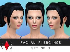 Facial piercing set of 3 at Sims 4 Krampus via Sims 4 Updates