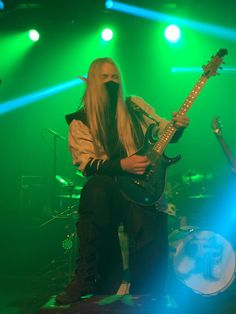 Aerendir - Twilight Force ⚫ Photo by Emma Waldau ⚫ Huskvarna 2016 ⚫ #TwilightForce #music #metal #concert #gig #musician #Aerendir #guitar #guitarist #elf #performing #playing #mask #wow #warcraft #anime #tabard #bracers #dragon #fire #castle #blond #longhair #festival #photo #fantasy #magic #cosplay #larp #man #onstage #live #celebrity #band #artist #performing #Sweden #Swedish #Huskvarna #FolketsPark