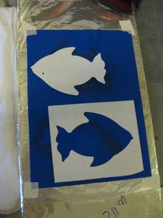 An idea to expand upon: Negative/Positive Space Stencil Painting