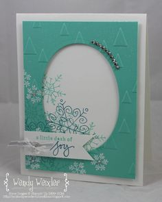 Endless Wishes stamp set; On Point embossing folder; colors are Coastal Cabana, Island Indigo and Whisper White - Wendy Weixler Creative Christmas Cards, Stampin Up Christmas, Xmas Cards, Holiday Cards, Christmas 2015, Endless Wishes, Card Tags, Greeting Card, Embossed Cards