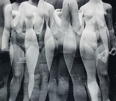 Erwin Blumenfeld, Les 3 Grâces, or Les 3 Nymphes,ca.1936 [In the studio of sculptor Aristide Maillol]