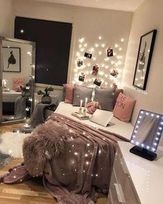 #teen #bedroom #ideas Tumblr Bedroom Decor, Bedroom Themes, Tumblr Rooms, Bedroom Kids, Diy Bedroom, Pink Bedroom Decor, Silver Bedroom, Bedroom Small, Bedroom Color Schemes