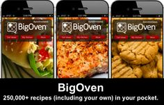 250,000+ recipes, including your own, in your pocket.