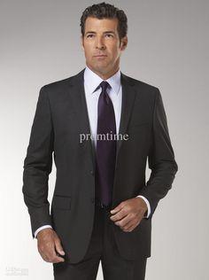 black pinstripe suit and purple tie - Căutare Google