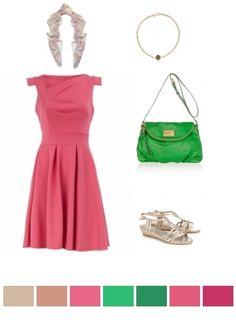 pink, green & gold