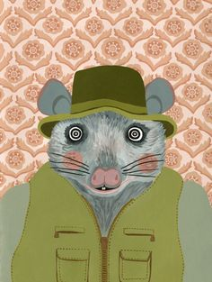 Possum Portrait Print by AhJennyShop on Etsy