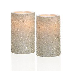 LED Glittered Pillar Candle | Candles-home-fragrance | Accessories | Decor | Z Gallerie