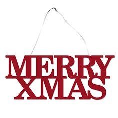 Inspirational Weihnachtliches Wanddeko zum Aufh ngen Merry X Mas Schriftzug Gr e ca
