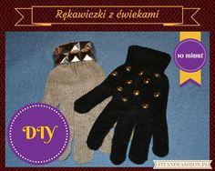 Rękawiczki z ćwiekami DIY