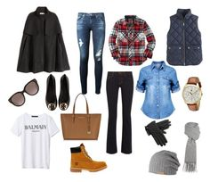 My closet needs these items. Boutique Moschino, Adriano Goldschmied, Balmain, Timberland, Tommy Hilfiger, Tory Burch, Michael Kors, Polyvore, Closet