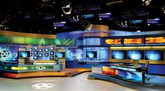 Multimedios Set Design - Sports Sets - Broadcast Design International, Inc. Studio Design, Set Design, Retail Design, Hot, Mansions, House Styles, Home Decor, Stage Design, Decoration Home