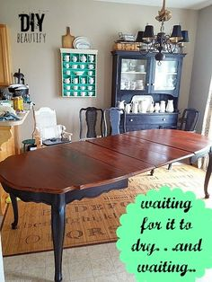 this diy tutorial will show you how to refinish a wood dining table top with stain - Refinishing Wood Table