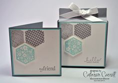 Stampin Up Six sided sampler card set & box