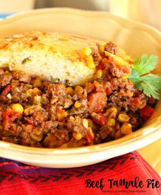 Busy days call for satisfying meals and simple preparation. This beef tamale pie is one of our go-to hearty and satisfying one-dish meals. It's the kind of dish I gravitate to on a busy weekday since the filling can be prepared in advance then topped with the green chili corn bread topping just before baking. …