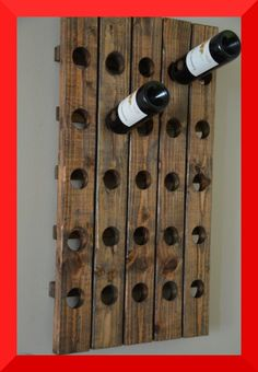 This wine riddling rack could be a DIY project, but it's nice when someone has already done it for you.  :)