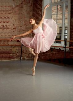 What do I want to be? I want to be a ballerina.