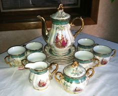 Lustre and Gold Musical Tea Set 17 pc Cosmos by ChevyLovesLaura