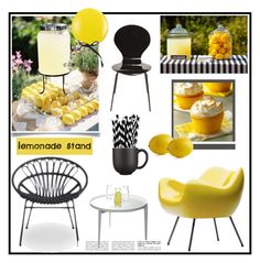 """Lemonade Stand"" by viva-12 ❤ liked on Polyvore featuring interior, interiors, interior design, home, home decor, interior decorating, Jars, Crate and Barrel, J.Crew and Covo"