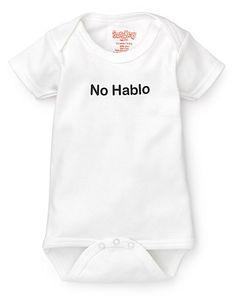 Sara Kety Infant Unisex No Hablo Bodysuit - Sizes 0-18 Months | Bloomingdale's