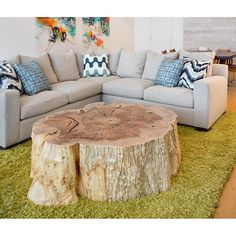 """Custom & organic, this coffee table is the ultimate statement piece! As seen: roughly 48"""" dia. Locally sourced, designed and built by Vanillawood in Portland, OR. 4 to 6 week lead time to ship."""
