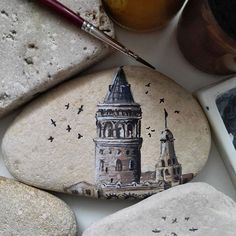 Galata kulesi #art #artist #drawing #illustration #tasboyama #rockpainting #galatakulesi #galatatower #istanbul #turkey
