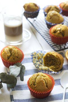 magdalenas de café con leche - cafe latte muffins