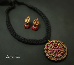 Terracotta fusion necklace
