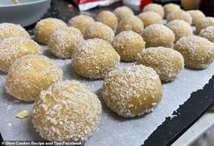 Home cook shares recipe for Caramilk chocolate bliss balls made in slow cooker internet going crazy Leek Tart, Slow Cooker Recipes, Cooking Recipes, Work Lunch Box, Condensed Milk Cake, Christmas Treats For Gifts, Homemade Sweets, Bliss Balls, Protein Ball