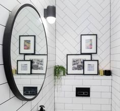 SPOILER: (in case you didn't know The Block is on tonight!) This is WC. What did you think of the tiles? Shop the look at The Block Shop now The Block 2016, The Tile Shop, Powder Room, Tiles, Mirror, Tile Ideas, Hostel, Dream Homes, Shopping